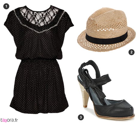 Idée de look avec une robe tunique noire