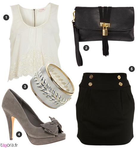idée de look chic avec une jupe noire – taaora – blog mode