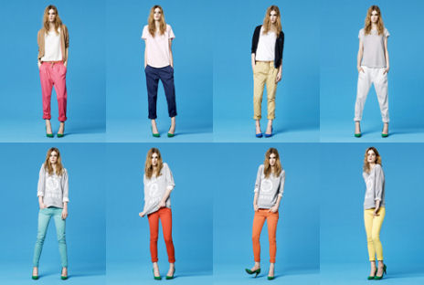 Pantalons Zara tendance color block