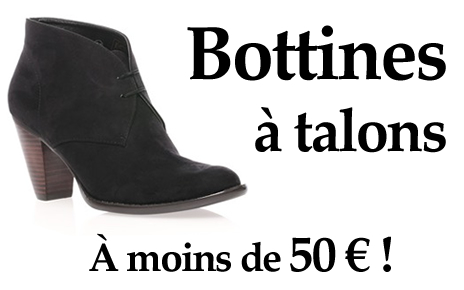 bottines talons moins de 50 euros taaora blog mode. Black Bedroom Furniture Sets. Home Design Ideas