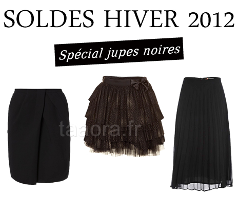 Jupes noires Hiver 2012 en soldes