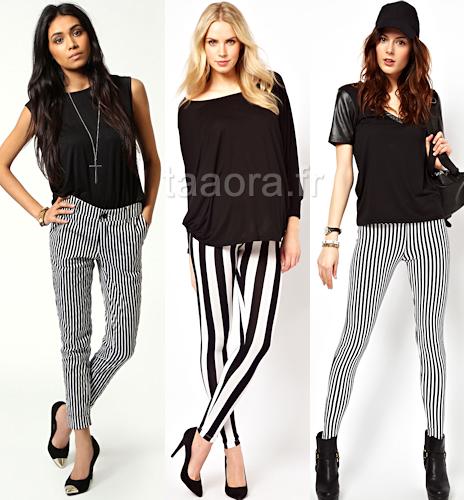 pantalon rayures verticales taaora blog mode tendances looks. Black Bedroom Furniture Sets. Home Design Ideas