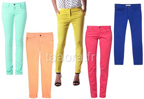 pantalons color s tendance printemps t 2013 taaora blog mode tendances looks. Black Bedroom Furniture Sets. Home Design Ideas