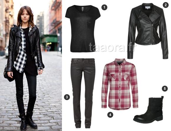 Look automne 2013 tendance grunge avec une chemise for Que porter avec du gris