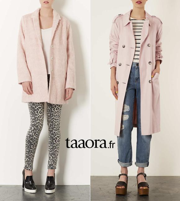 Manteau rose pastel