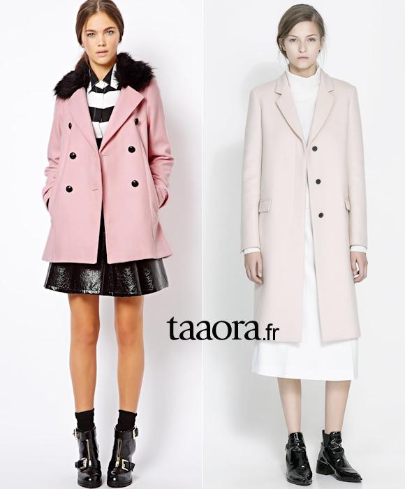 Manteau rose tendance 2014