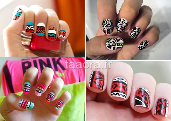 Simple aztec nail designs