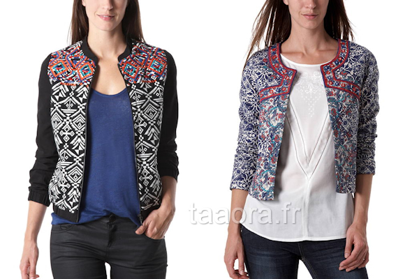 Tendances Mode Looks Ethnique Blog Veste – Taaora Promod TOZp4