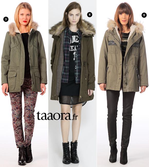 5 fa ons de porter une parka kaki taaora blog mode tendances looks - Comment porter des bottines avec un slim ...