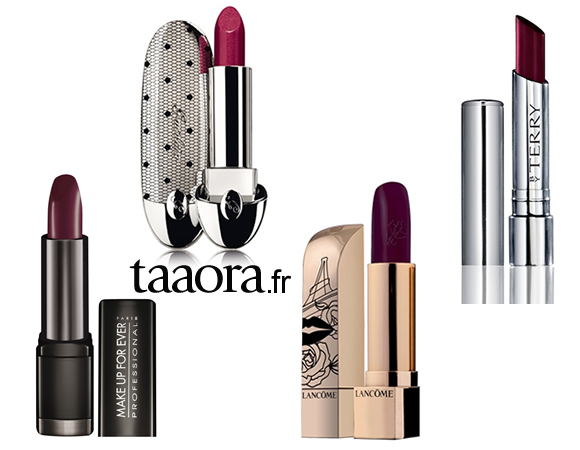 rouge l vres prune tendance maquillage de cet automne hiver taaora blog mode tendances. Black Bedroom Furniture Sets. Home Design Ideas