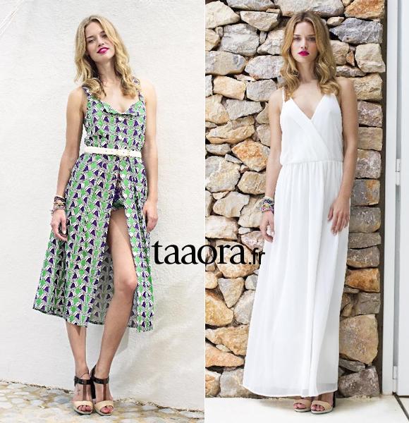 robe longue blanche été 2014