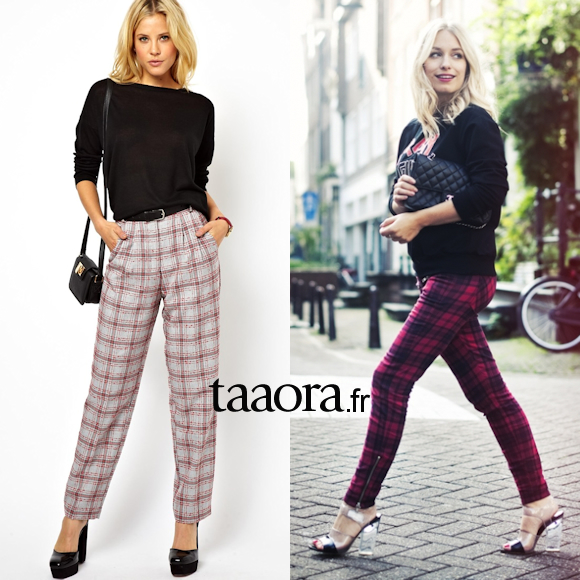 Le pantalon carreaux cossais mode d emploi 7 inspirations looks taaora blog mode - Comment porter des bottines avec un slim ...