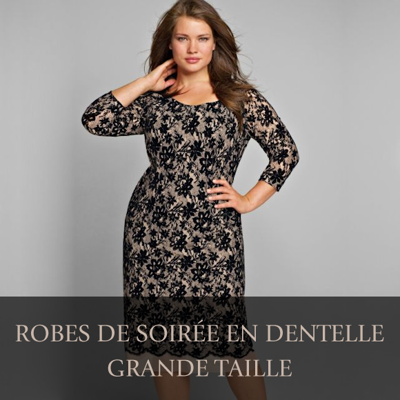 robes de soir e grande taille en dentelle pour les f tes taaora blog mode tendances looks. Black Bedroom Furniture Sets. Home Design Ideas