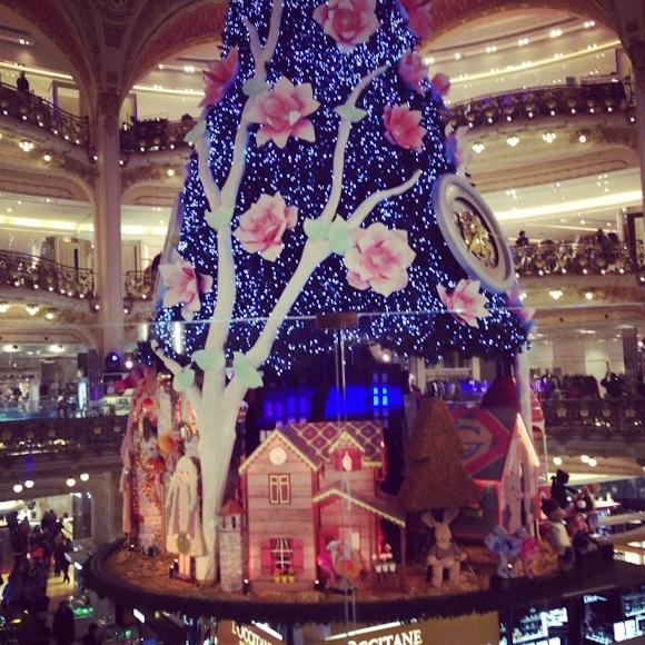 Sapin de Noël 2013 Galeries Lafayette Paris