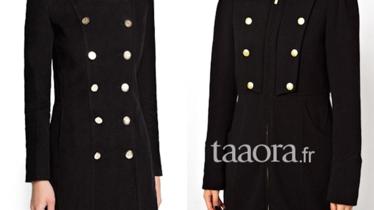 Où trouver un manteau officier noir pour cet hiver