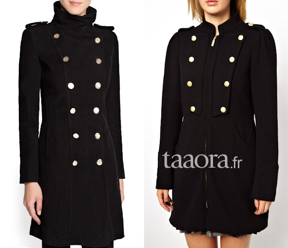 o trouver un manteau officier noir pour cet hiver taaora blog mode tendances looks. Black Bedroom Furniture Sets. Home Design Ideas