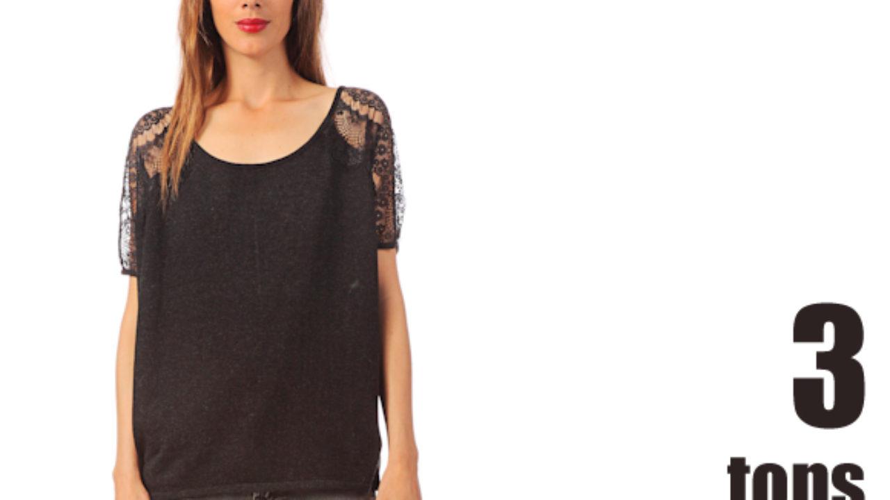 87317d4c6c Tops noirs avec manches en dentelle – Taaora – Blog Mode, Tendances, Looks
