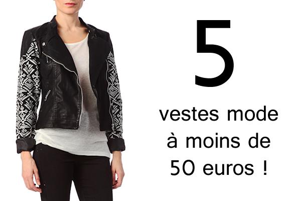 Veste à moins de 50 euros