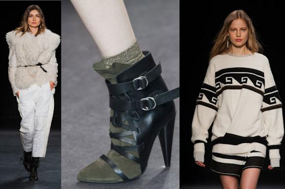 Boots à lanières Isabel Marant Automne,Hiver 2014,2015