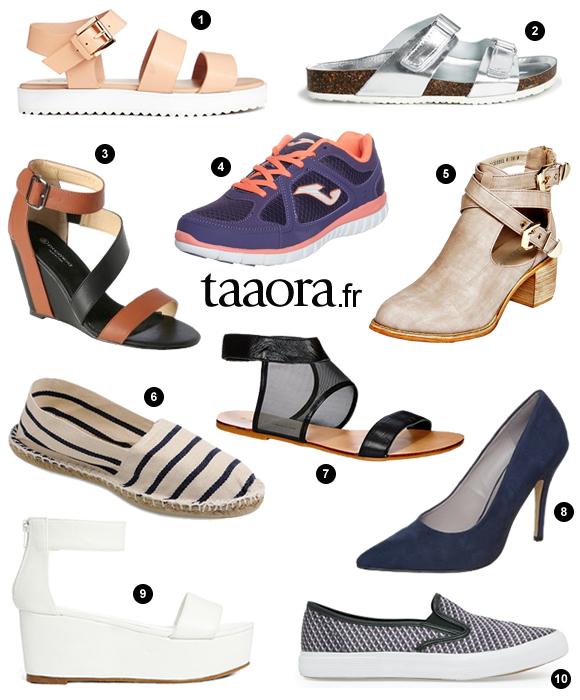 0aed59d164a 10 chaussures tendance du printemps-été 2014 à moins de 50 euros ...