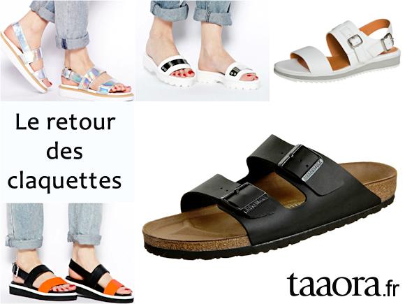 claquettes les sandales du printemps t 2014 taaora blog mode tendances looks. Black Bedroom Furniture Sets. Home Design Ideas