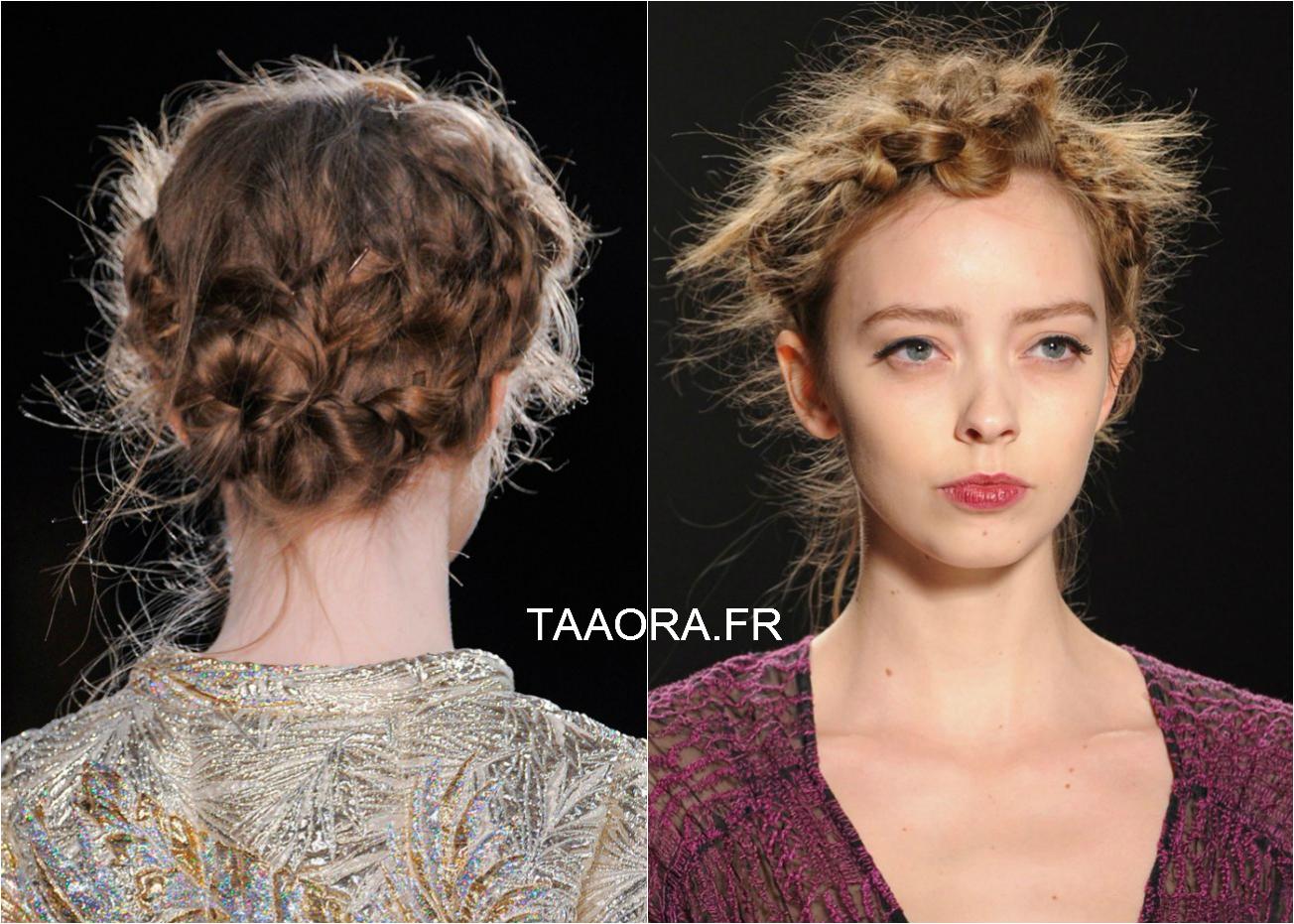 Les coiffures tendance de l hiver 2015 en photos taaora blog mode tendances looks - Coiffure couronne tressee ...