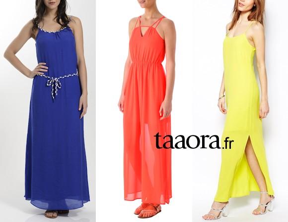 robe longue ete coloree - Robe Longue Colore