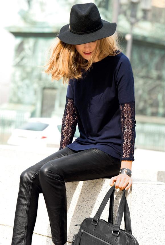 chapeau noir en laine accessoire tendance automne hiver. Black Bedroom Furniture Sets. Home Design Ideas