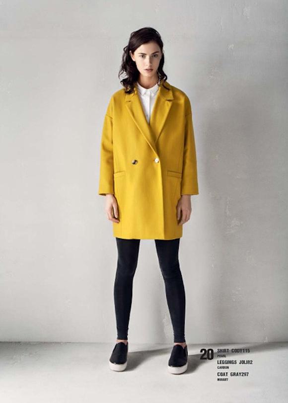 Manteau jaune American Vintage
