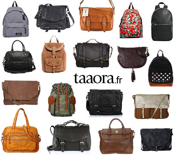quel sac pour les cours cartables besaces sacs dos pour la rentr e taaora blog mode. Black Bedroom Furniture Sets. Home Design Ideas