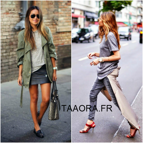 avec quoi porter un t shirt gris streetstyle taaora blog mode tendances looks. Black Bedroom Furniture Sets. Home Design Ideas