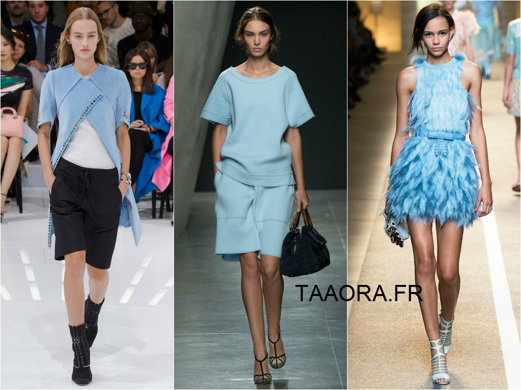 La couleur bleu ciel tendance t 2015 taaora blog mode tendances looks - Couleur tendance ete 2015 ...