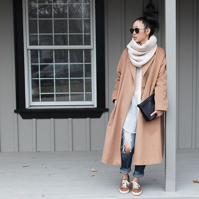 Manteau beige avec quoi porter