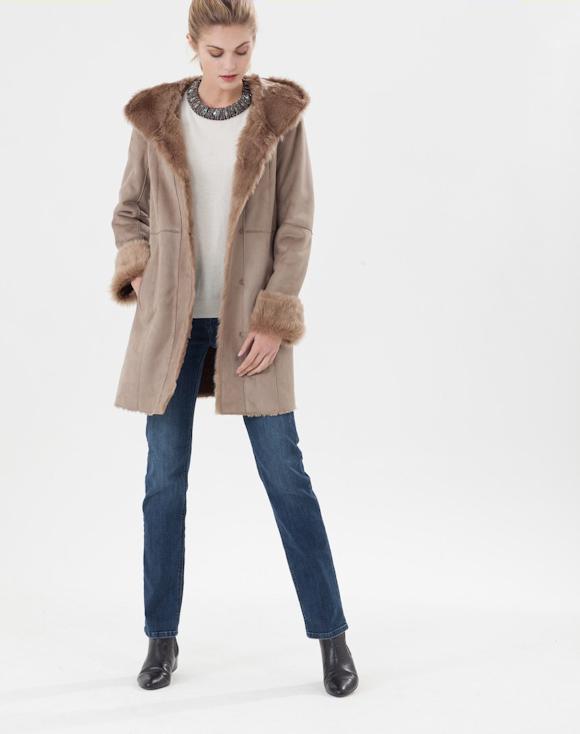 o trouver un manteau marron fa on peau lain e avec col. Black Bedroom Furniture Sets. Home Design Ideas