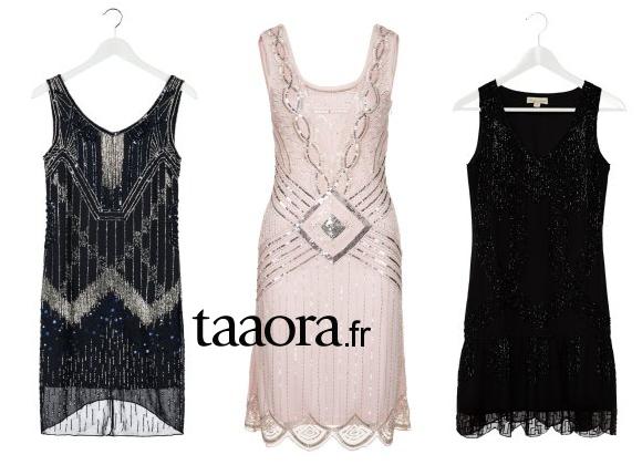 19b8582529487 3 robes de soirée années 20 pour un look Gatsby le Magnifique ...