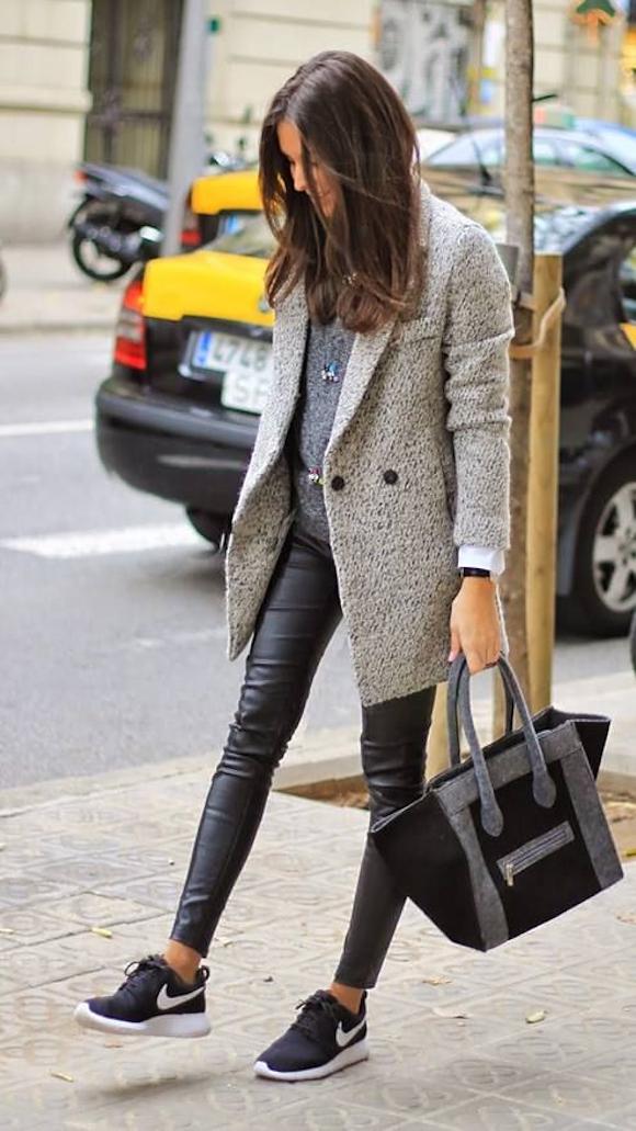 5 Looks D Hiver Avec Un Manteau Gris Taaora Blog Mode