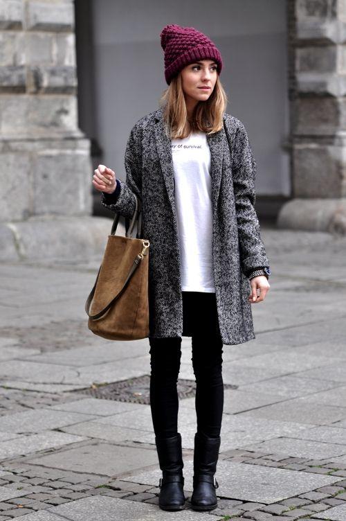 5 looks d hiver avec un manteau gris taaora blog mode tendances looks. Black Bedroom Furniture Sets. Home Design Ideas