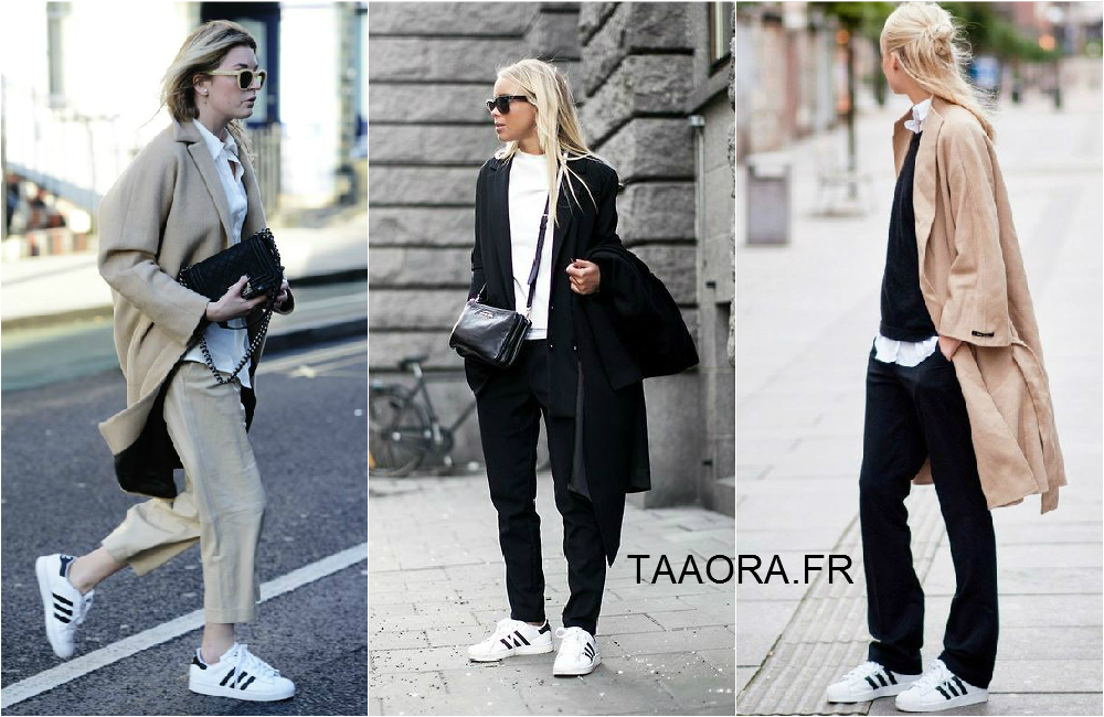 En images : comment porter des baskets Superstar avec un pantalon ou jean