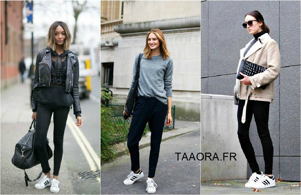 Idées de tenues avec des Superstar Adidas