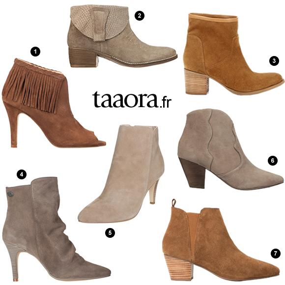 Boots en daim beige-marron-camel pour le printemps-été 2015 – Taaora ... 83f9f24caaee