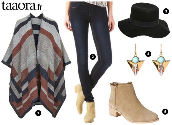 Idée de look avec une cape à rayures – Taaora – Blog Mode, Tendances ... f513b363b728