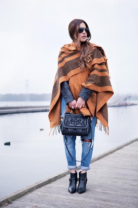 Poncho Imprim Jean Inspirations Looks Taaora Blog Mode Tendances Looks