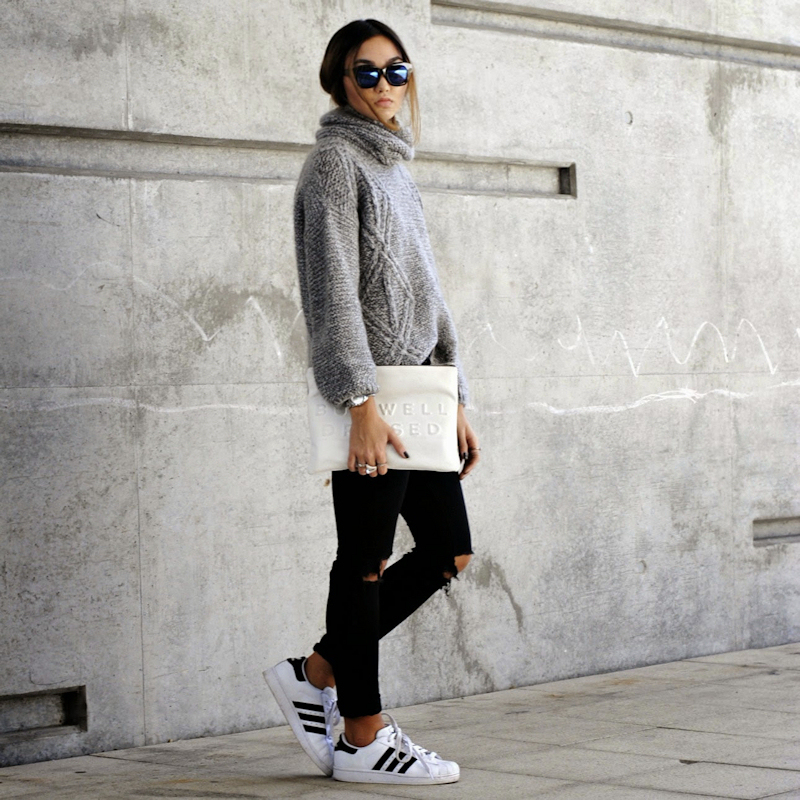 Adidas Superstar Femme Blanche Portée
