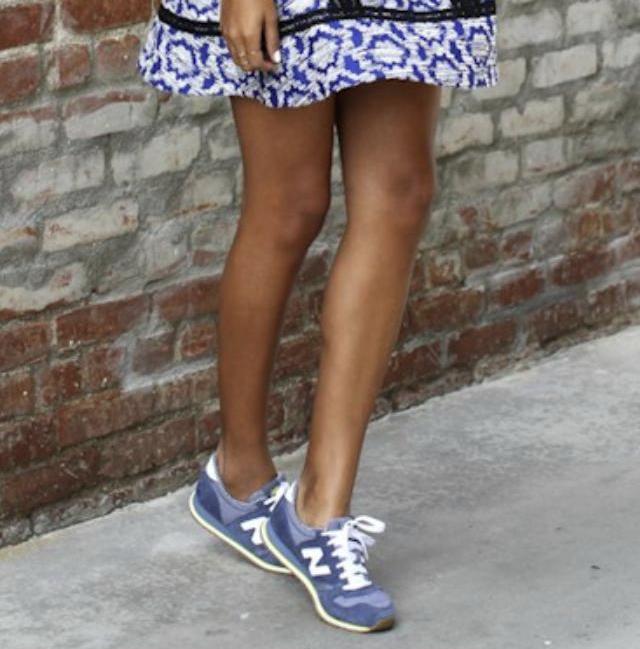 basket new balance femme bleu