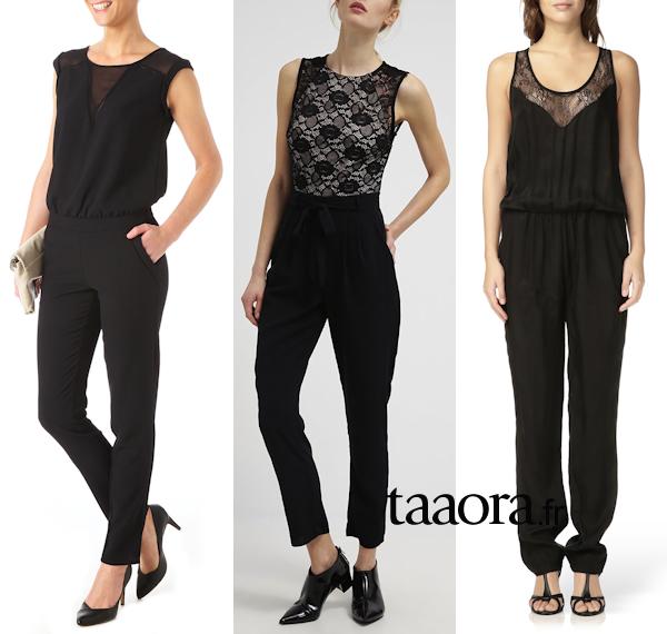 3 combinaisons noires chics et f minines taaora blog mode tendances looks - Combinaison noire chic ...