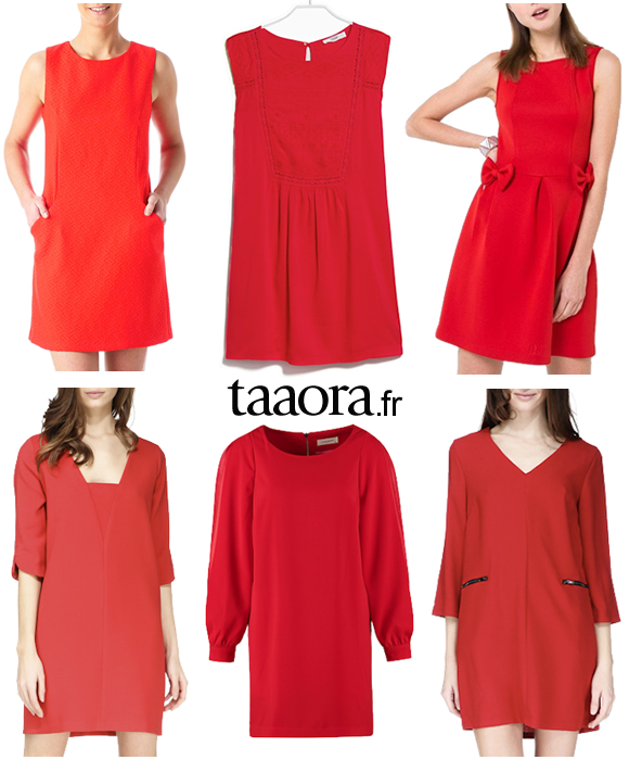 Robes Rouges Printemps Ete 2015 Ba Sh Naf Naf Mango Mademoiselle R Promod Taaora Blog Mode Tendances Looks
