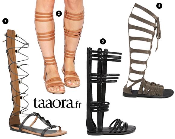 spartiates hautes gladiator sandal. Black Bedroom Furniture Sets. Home Design Ideas