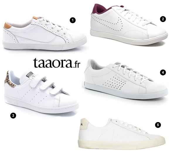 baskets blanches automne hiver 2015 2016 taaora blog mode tendances looks. Black Bedroom Furniture Sets. Home Design Ideas