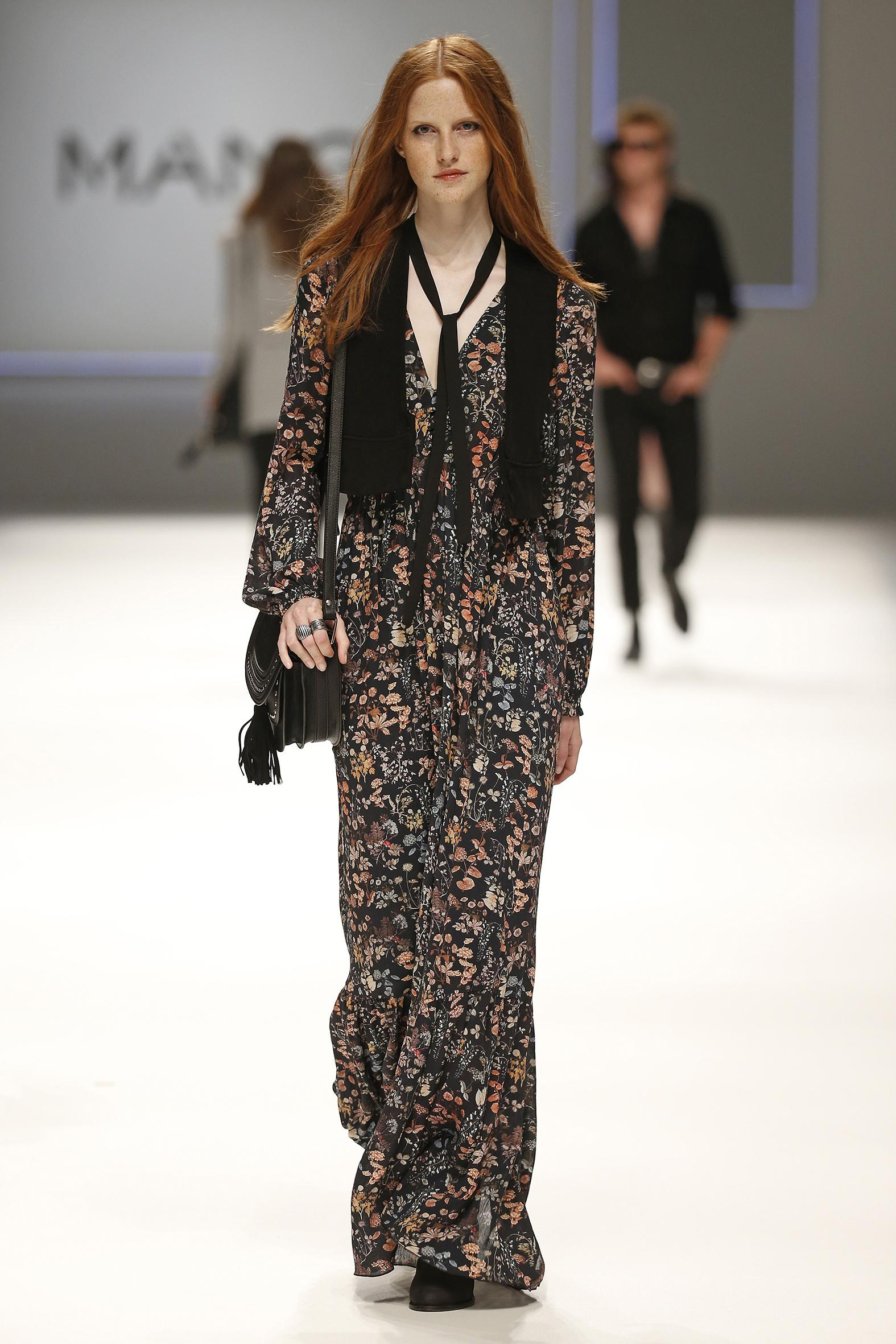 Robe longue style seventies