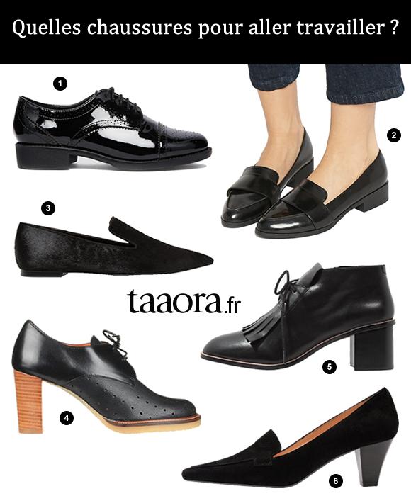 quelles chaussures pour aller travailler 6 paires de chaussures noires pour le bureau taaora. Black Bedroom Furniture Sets. Home Design Ideas